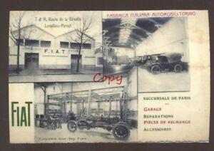 Fiat Motors Italy Italian Motor Car Factory Torino Advertising Postcard Copy Ebay