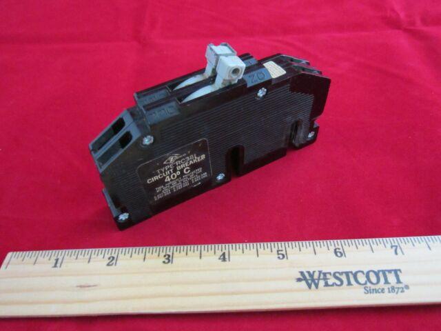 Zinsco circuit breaker 15 amp 120//240v  R38 2 pole