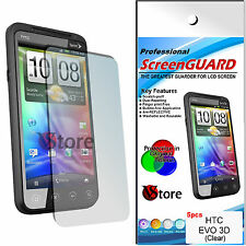 5 PZ PELLICOLA PROTEGGI SALVA SCHERMO LCD PER HTC EVO 3D 3 D