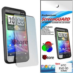 5-st-Schutzfilm-Schuetzen-Sie-Sparen-Bildschirm-LCD-fuer-HTC-Evo-3D-3-D