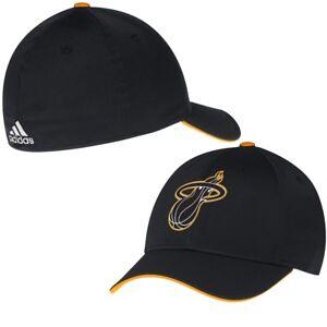 fed185d6 Mens Miami Heat adidas Black Team Nation Logo Flex Hat - size Small ...