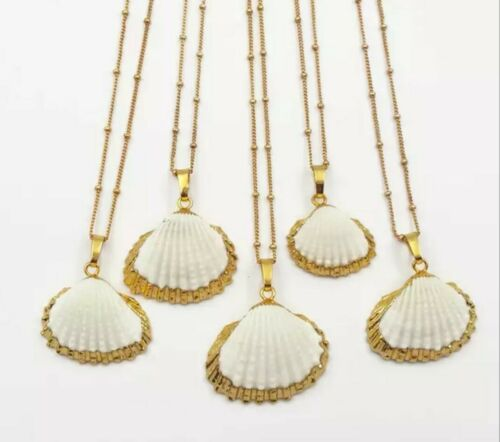 24K gold plated scallop clam shell charm necklace bloggers Other trend Stories