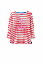 New Crew Clothing Womens Anchor 3/4 Sleeve Top in Multicoloured