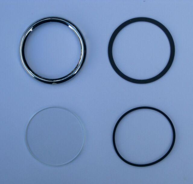 Austin Healey 100 Smiths Instrument Bezel and Glass Refurbishment Kit 2 inch