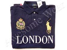 New Ralph Lauren Polo Big Pony Custom Fit 100% Cotton Navy London Shirt SLIM  XL