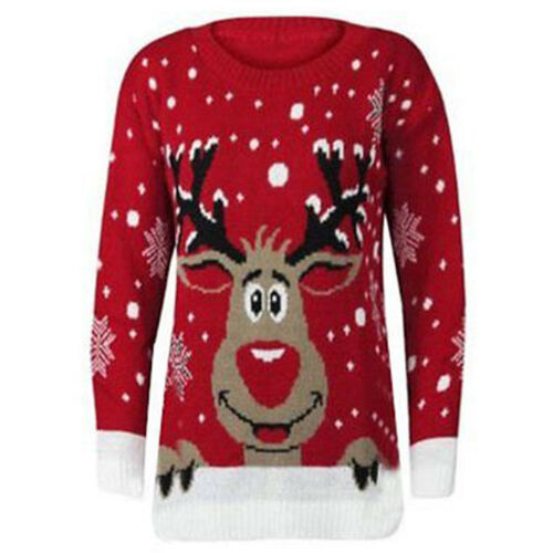 LADIES WOMENS MEN CHRISTMAS XMAS NOVELTY 70'S VINTAGE JUMPER KNITTED SWEATER