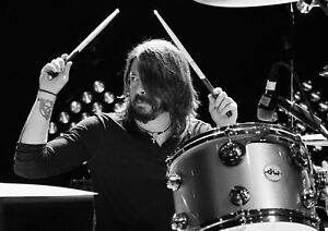 DAVE-GROHL-DRUMMING-POSTER-ART-PRINT-PICTURE-A3-11-7-16-5-INCH-AMK2057