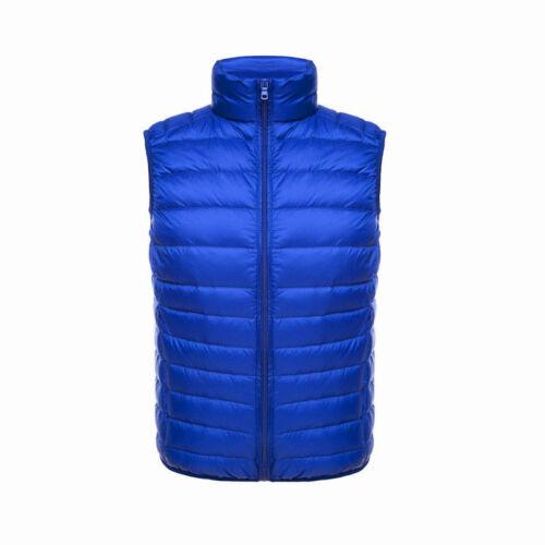 Men Winter Light Weight Down Waistcoat Puffer Gilet Vest Coat Warmer Padded Slim