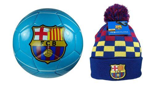 FC Barcelona Official Soccer Size 4 Ball /& Beanie Combo 21-4
