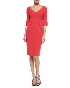 3f992f827f Black Halo Ponte V-Neck Sheath 3 4 bell sleeve melon Sz 6 Dress New ...