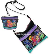 Laurel Burch Dog /& Doggies Papillon Dogs Black With Brights Travel Tote Bag NWT