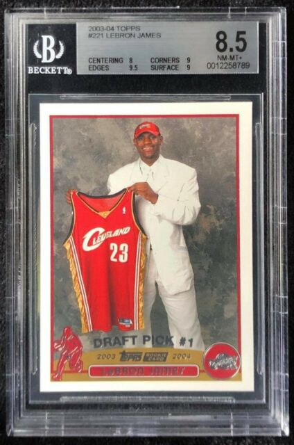 **LEBRON JAMES** 2003-04 TOPPS #221 ROOKIE BGS 8.5 NM-MT+📈🔥