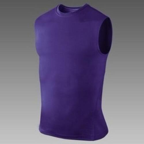 Mens Compression Sleeveless Base Layer Tank Top Workout Basketball Sports Vest