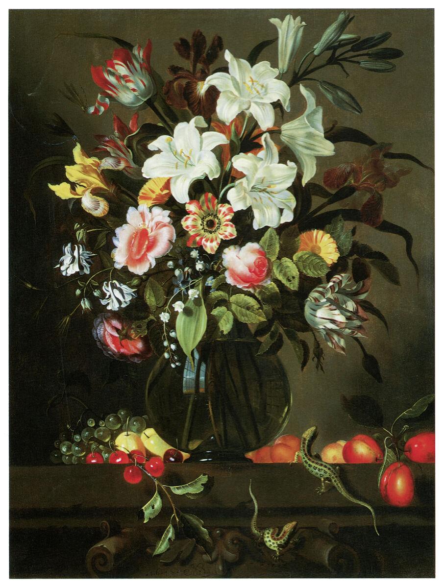 16x20 Decoration CANVAS.Interior room design art.Flower vase painting.6645