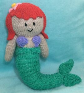 Knitting Pattern Ariel Inspired 38 Cms Soft Toy Little Mermaid