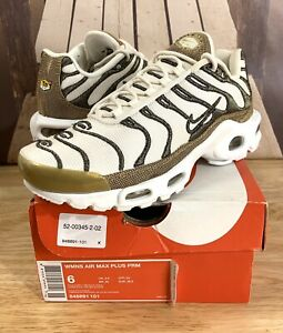 Details about Nike Air Max Plus Premium TN Tuned Women's Size 6 Ivory / Gold 848891 101