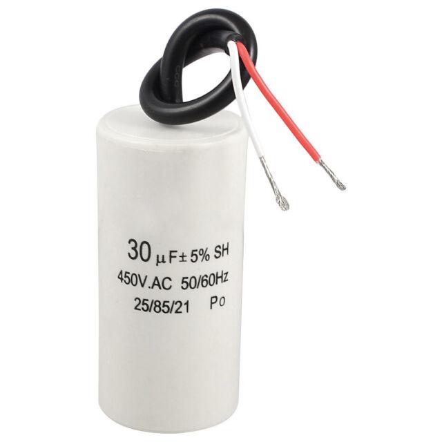 2-Wired 30uF 450VAC 50/60Hz CBB60 Motor Start Run Capacitor I5X1