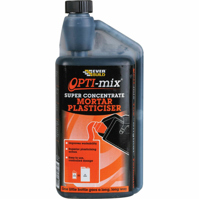 1 Litre Everbuild Opti-Mix Mortar Plasticiser Concentrated equiv to 25ltr