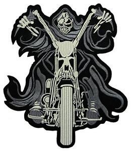 16-Ghost-Rider-Backpatch-Rueckenaufnaeher-Aufnaeher-Biker-MC-Kutte-21-5-x-25-5-cm