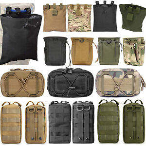 Tactical Molle Dump Pouch Military EDC Utility Mag Ammo Shell Holder Hunting Bag