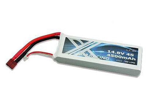 Lipo batería 14,8 voltios 4s de 4500 mAh de 20c Dean conector Softcase nuevo 28898