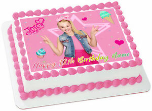 Image Is Loading Edible Jojo Siwa Cake Topper Birthday Party Wafer