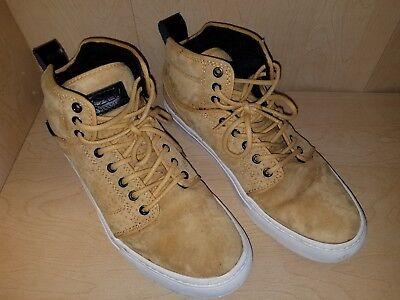 Men's 8 Vans Shoes Suede Leather High