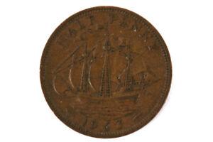Half-Penny-Coin-Great-Britain-1963