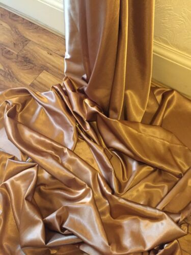 "NEW IN STOCK 3 MTR COPPER CREPE BACK LINING SATIN FABRIC...58/"" WIDE"