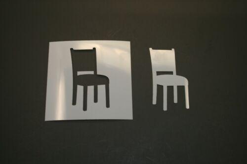 Art Supplies Chair Reusable Mylar Stencil