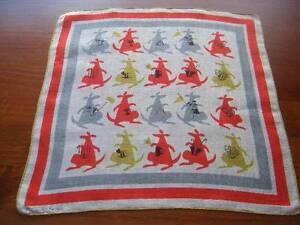 Vintage-Tammis-Keefe-Kooky-Kangaroos-Hanky-Handkerchief-Hankies