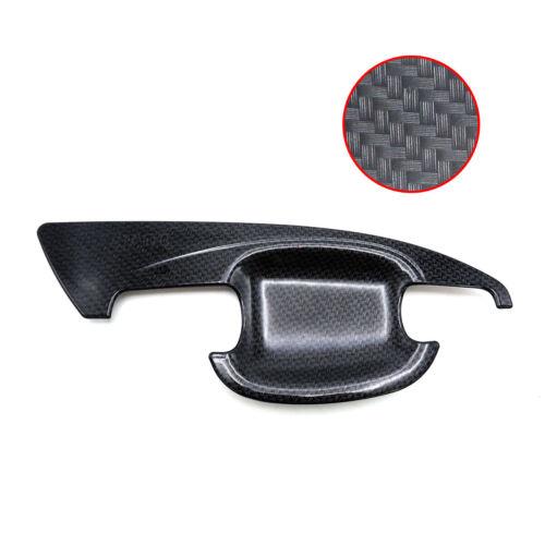 Bowl Insert Handle Cover Carbon Black For Chevrolet Colorado Z71 4x2 2012 19