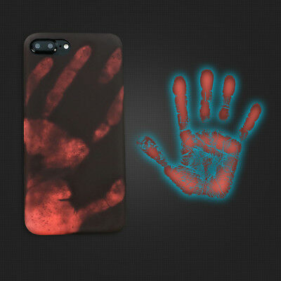 newest 859d6 71362 Fashional Thermal Sensor Case for iphone 8 7 6s Plus Heat Induction Phone  Cover | eBay
