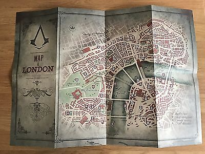 Assassins Creed Syndicate Big Ben Edition Map Double Sided Poster