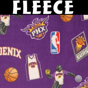 Nba Phoenix Suns Toss Fleece Fabric By The Yard 746507024353 Ebay