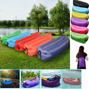 Inflatable-Air-Sofa-Bed-Lazy-Sleeping-Camping-Bag-Beach-Hangout-Couch-Windbed