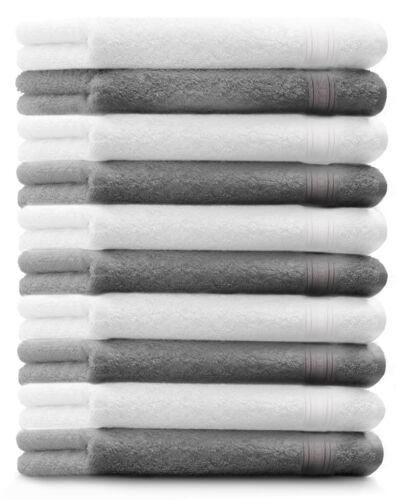 BETZ 10 Pièce invités Serviettes Gold 30x50 cm couleur blanc /& gris argenté