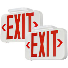 2 Pack Red Led Exit Sign Emergency Light Double Face Ac 120v277v