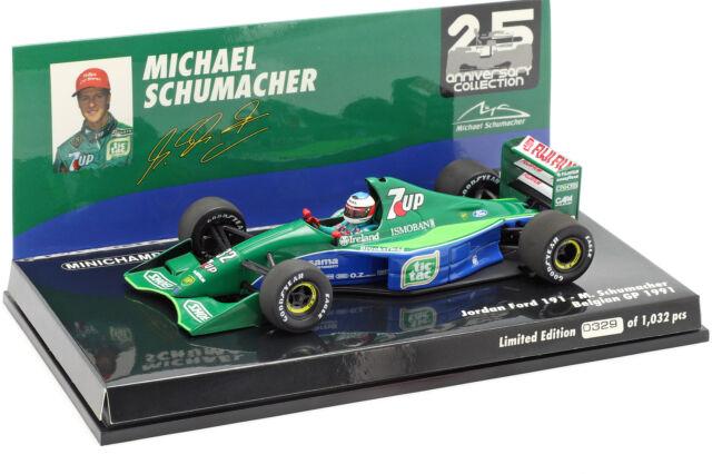 M.Schumacher Jordan 191 #32 F1 Debüt Belgique Gp Spa 1991 1:43 minichamps