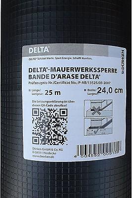 Delta Mauerwerkssperre 25m PVC Mauersperre Mauerwerksperre Dörken Sperrfolie