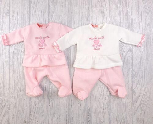 Bébé prématuré fille Nouveaux-nés vêtements haut pantalon Ensemble Polaire Rose 3-5 Lb 5-8 LB