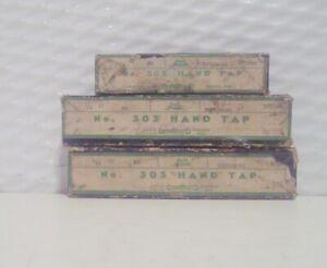 Vintage Greenfield 3 Piece Tap Set High Speed Thread 5//16 NC 18 USA GTD Orig Box