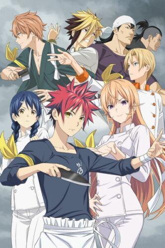 """044 FOOD WARS SHOKUGEKI NO SOMA Chef Cooking Japan Anime 14/""""x21/"""" Poster"""