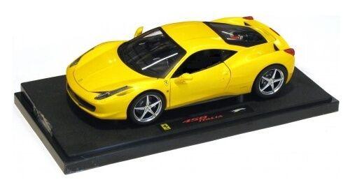 Ferrari 458 Italia  jaune  2009 (Mattel 1 43   P9954)