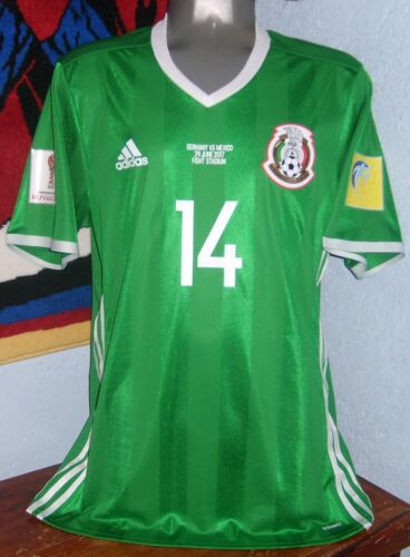 ADIDAS MEXICO CONFEDERATIONS 17 PLAYER MATCH 4 CHICHARITO ORIGINAL JERSEY SHIRT