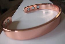 Pure Copper 6 Magnetic Bracelet Arthritis Therapy Energy Men Women Cuff