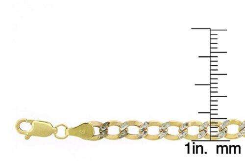 """5 mm Diamond Cut CUBAN LINK Pave chaîne Collier 16/"""" 10K deux tons or 2.5 mm 30/"""""""