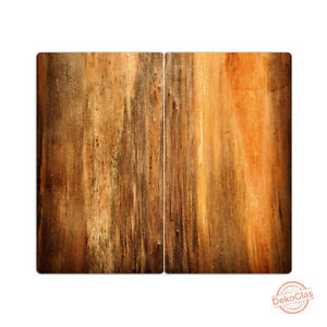dekoglas herdabdeckplatten holz 60x52 glas ceranfeld abdeckung spritzschutz ebay. Black Bedroom Furniture Sets. Home Design Ideas