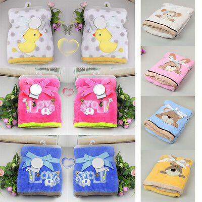 Cute Soft Baby Coral Fleece Bag Blanket Towel  Bathrobe Towel Animal Shape