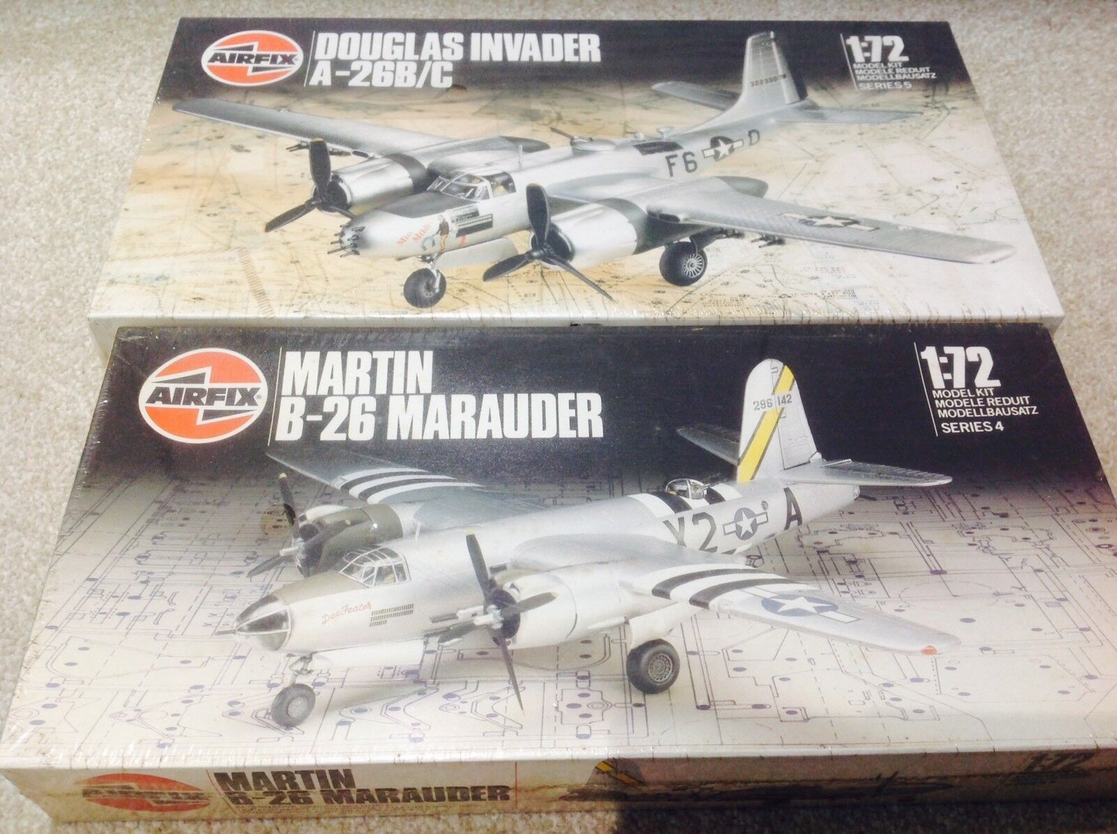 Airfix 1 72 05011  904015 USA Ww2 Bombers vintage model aircraft kit sealed